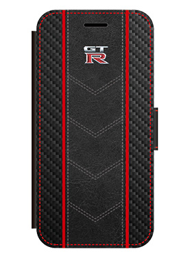 GT-R Carbon Leather Book Type Case