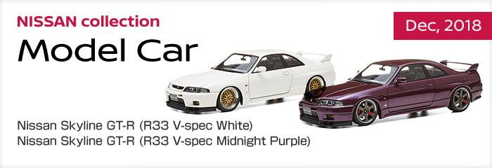 NISSAN collection - Dec,2018 - Nissan Skyline GT-R (R33 V-spec White) - Nissan Skyline GT-R (R33 V-spec Midnight Purple)